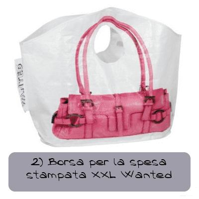 2 borsa per la spesa stampata xxl wanted