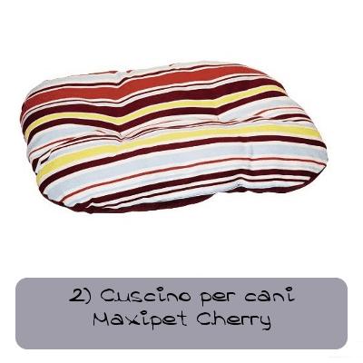 2 cuscino per cani maxipet cherry