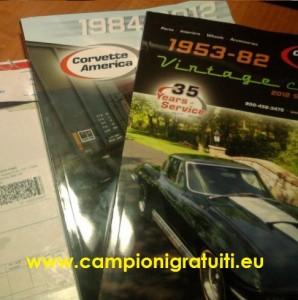Campione gratuito CD-rom auto d'epoca Corvette + catalogo