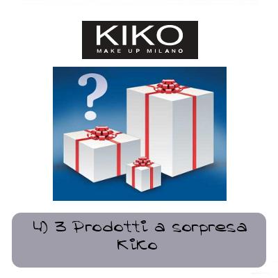 tre prodotti a sorpresa kiko