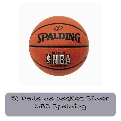 5 palla da basket silver nba spalding 480200097