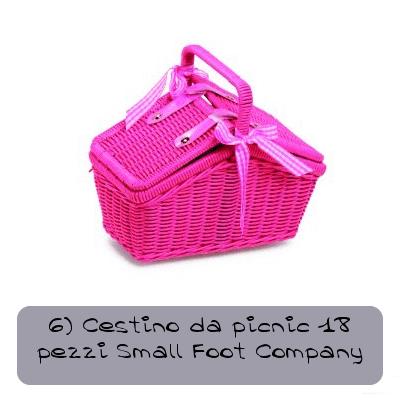6 cestino da picnic 18 pezzi small foot company