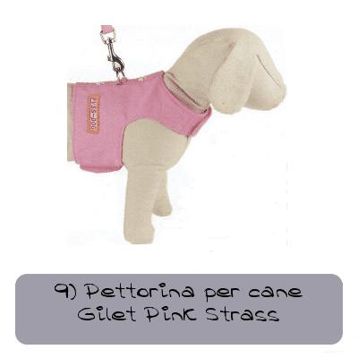 9 pettorina per cane rosa