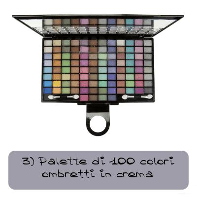 Palette di 100 colori ombretti in crema