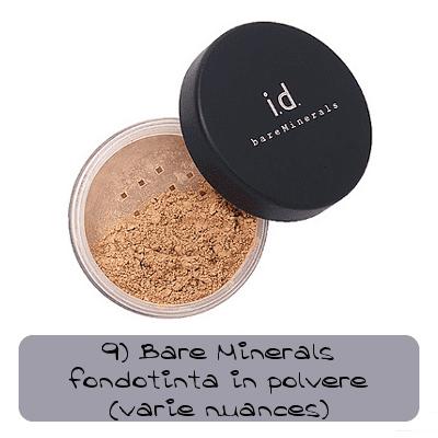 fondotinta il polvere bare minerals