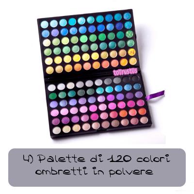 palette di 120 colori ombretti in polvere